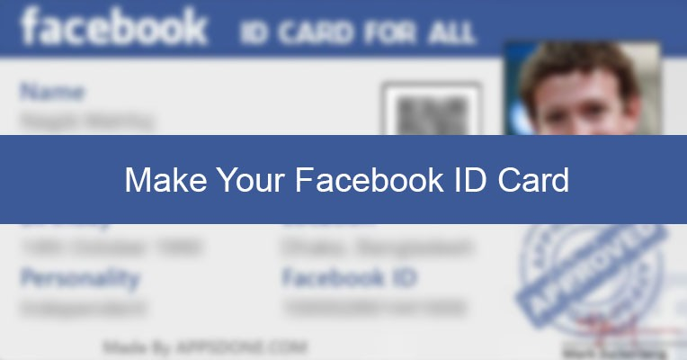 make your facebook id card appsdone com