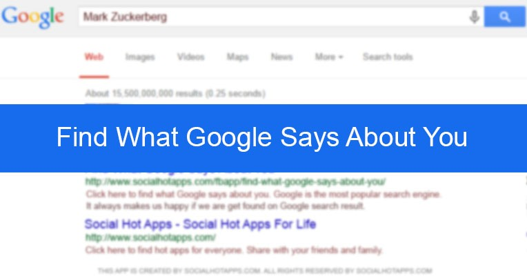 Click Here To Use Find What Google Says About You